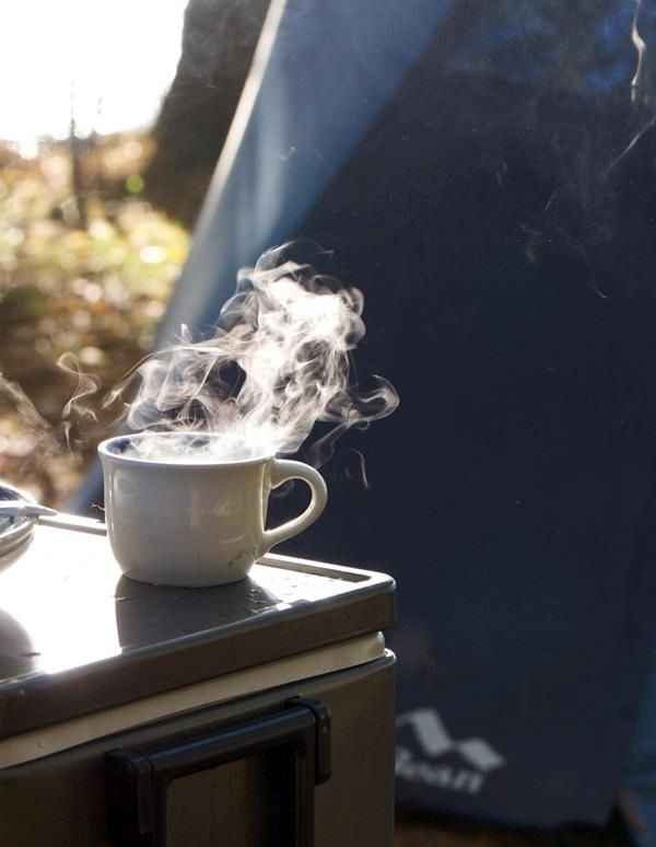 Nothing better than coffee during camping mornings!