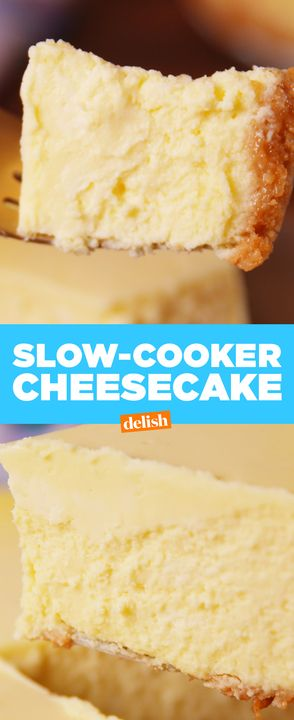The real secret to cheesecake is your slow cooker. Get the recipe from Delish.com.