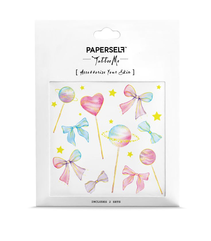 Lollipops Pastel Watercolour Temporary Tattoo  – Products