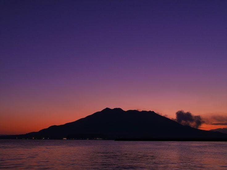 桜島の夜明けと黄昏 - うわわブログ goo