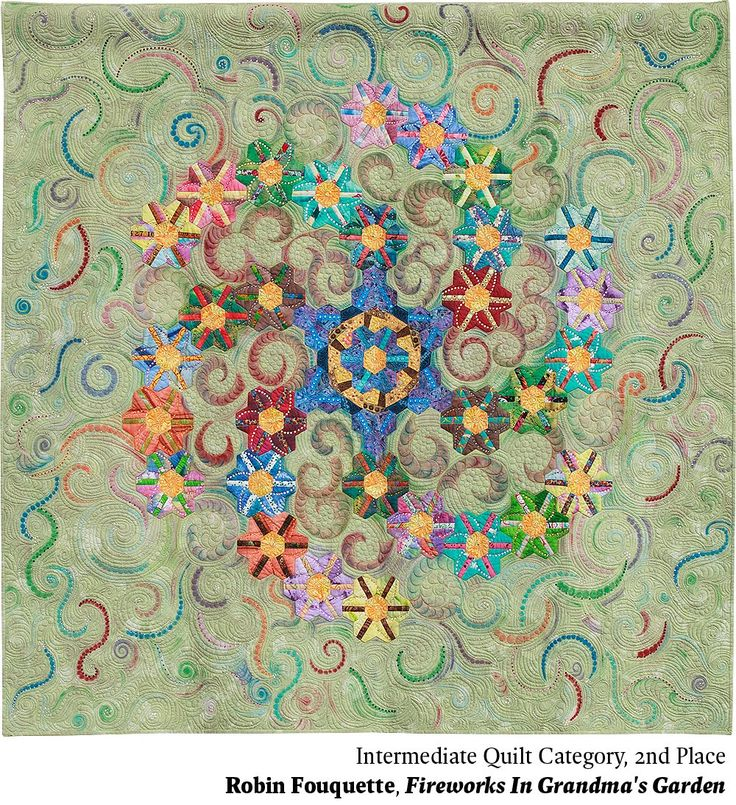 Intermediate Quilting Patterns : 208 best images about Hexagon quilts on Pinterest Mini quilts, Grandmothers and Quilt patterns