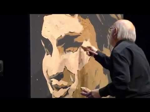 Jean-Pierre Blanchard pinta a Roger Federer en 4 minutos