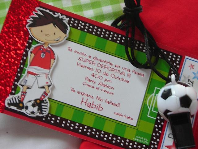 Soccer party invitation, via Flickr.