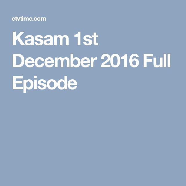 Kasam 1st December 2016 Full Episode