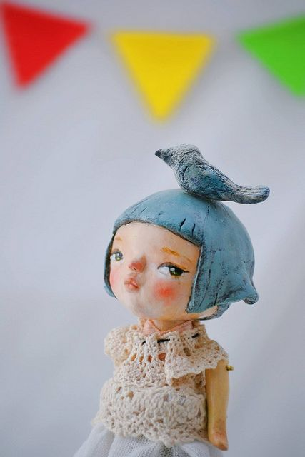 M - paper clay art doll by Sophie Jareangjit on Flickr | https://m.flickr.com/#/photos/42738165@N04/11751702683/