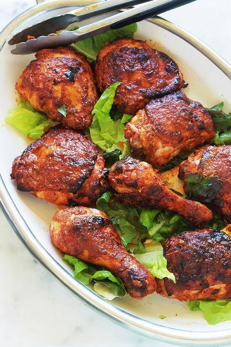Frango tandoori no forno ou panela – receita indiana fácil