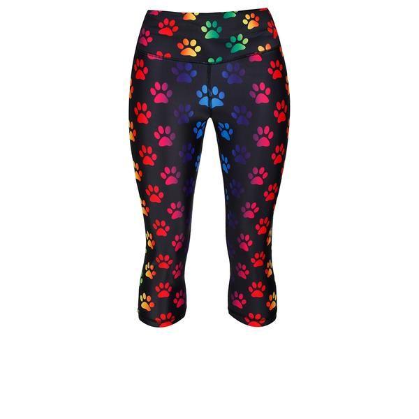 Tikiboo Paw Print Capri #Activewear #Gymwear #FitnessLeggings #Leggings #Tikiboo #Running #Yoga
