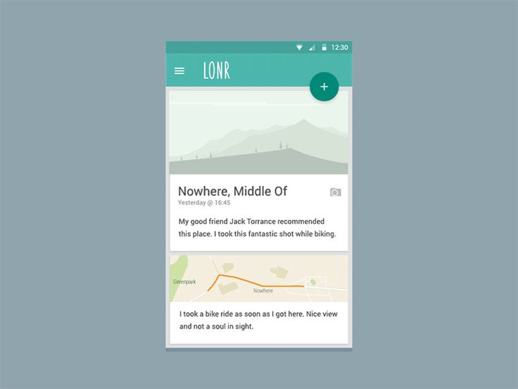 Lonr - Android Material Design for the Lonely