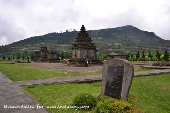 Arjuna temples on Dieng Plateau, Central Java.