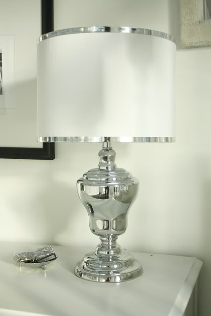 silver lamp - all white shade instead