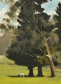 Afternoon (Eltham), Oil, Albert Ernest Newbury