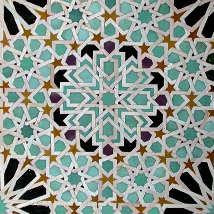 Moroccan Tiles on geometric interior design ideas