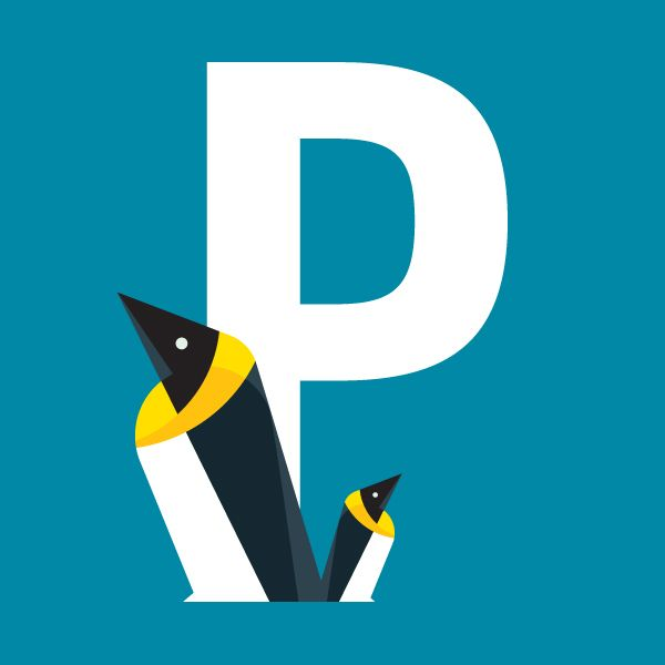 P is for Penguin, 'Alphabet' by Bart De Keyzer, via Behance