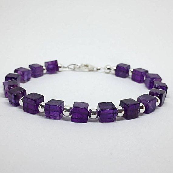 #amethyst  #amethystbracelet  #gemstone  #gemstonebracelets  #purple #beads #sterlingsilver #amethystpurple
