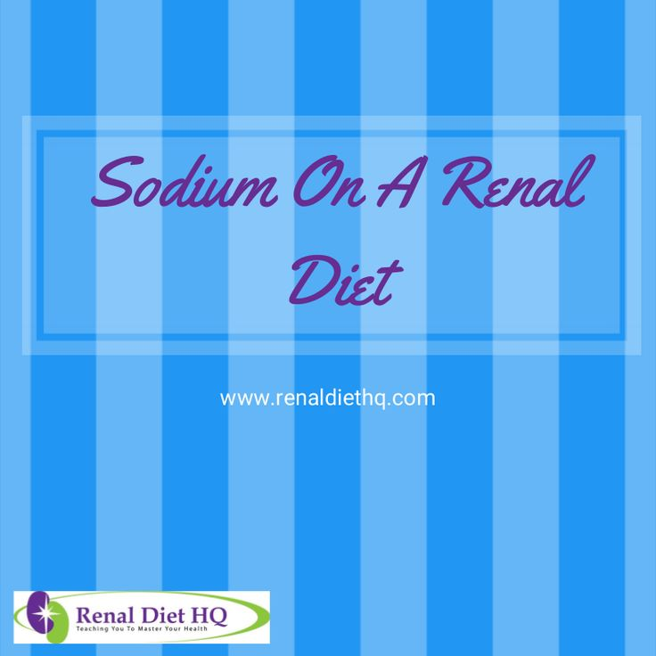 The primary function of the kidneys is to flush out waste and excess fluids. With chronic kidney disorders and renal failure, the kidneys are not able to do their job properly. The amount of sodium in your body affects this issue because sodium increases water retention in the body, therefore making your kidneys' job even harder.'