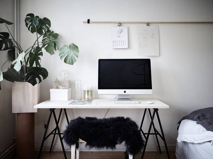 Bedroom, living room and work space in one - via cocolapinedesign.com