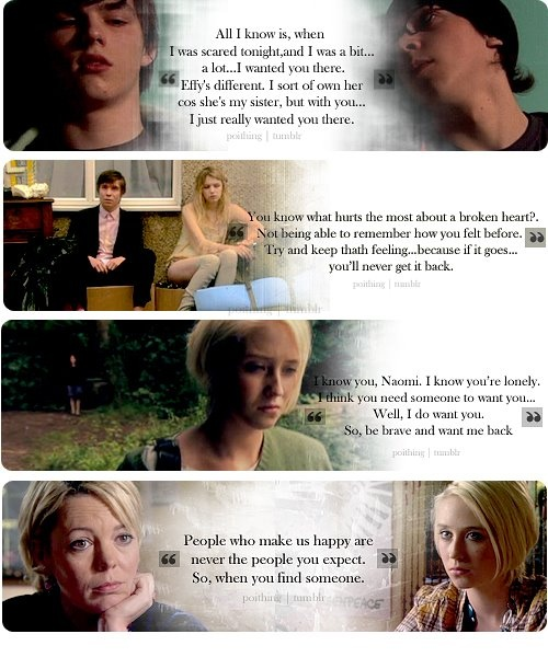 "wise words from the skins gang, not sure why the last quote was cut off but the end is ""You have to cherish it."""