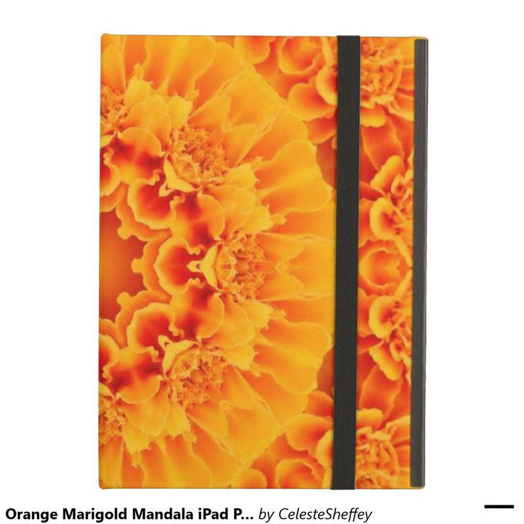 Orange Marigold Mandala iPad Pro case
