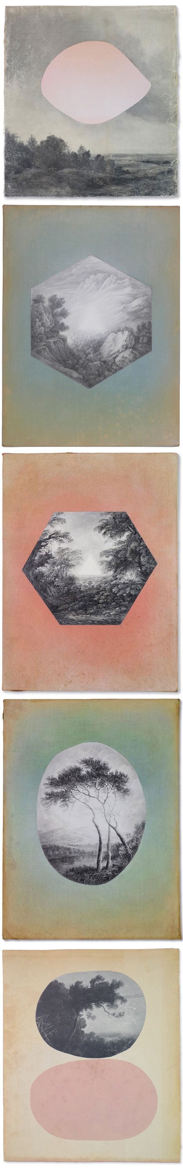graphite and paint on found book covers <3 sue williams a'court