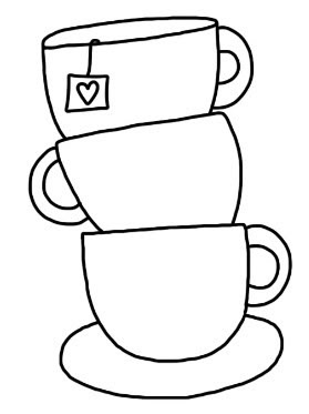 Cre8tive Hands: Tea Party - this would be cute with a real tea bag tag