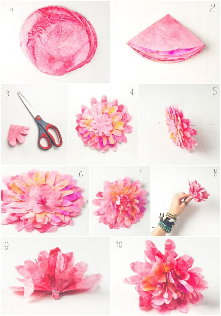 DIY Coffee Filter Flowers by SoulMakes
