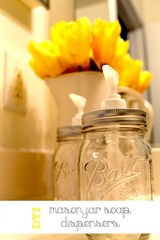 DIY Mason Jar Soap DispensersBall Jars, Mason Jars Soaps, Soaps Dispeners, Soap Dispenser, Diy Mason, Destinations, Half Bath, Soaps Provide, Crafts