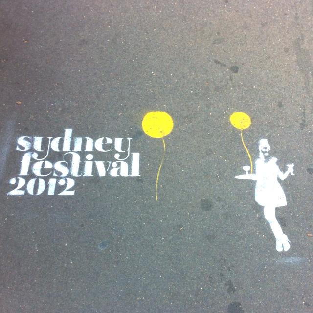 Festival fun stenciled in Crown Street