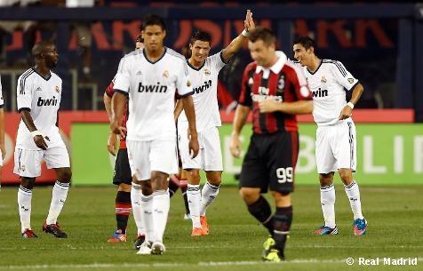 El Real Madrid CF se exhibe con 5-1 un ante el AC Milan en el Yankee Stadium.