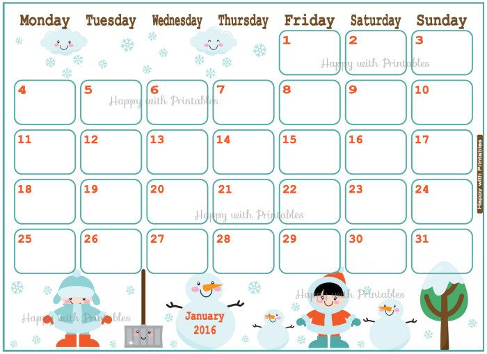 22 best Printable Calendar images on Pinterest Organizers - printable calendars