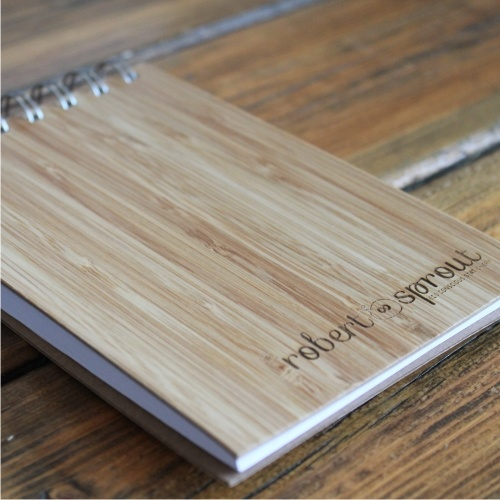 Eco friendly bamboo notebook www.robertsprout.co.za