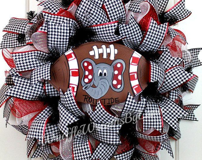 XX Large Alabama Football Wreath-Mesh Collegiate Wreath-Roll