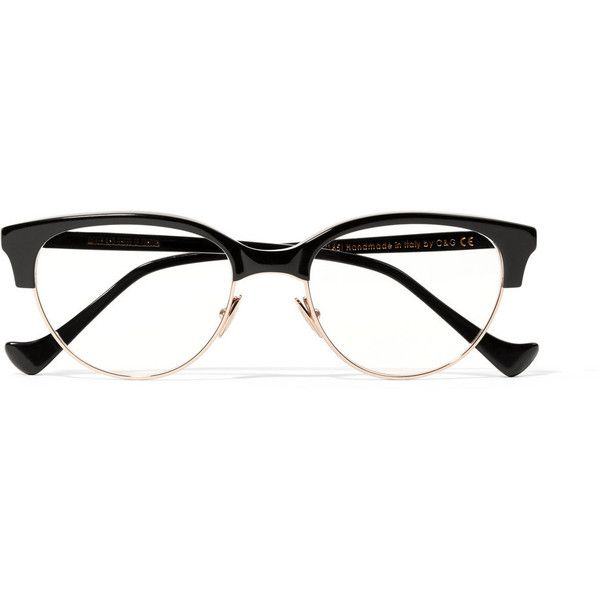 Cutler and Gross Cat-eye acetate and rose gold-tone optical glasses ($440) ❤ liked on Polyvore featuring accessories, eyewear, eyeglasses, glasses, black, cat-eye glasses, cutler and gross, acetate glasses, cateye eyeglasses and cat eye eyeglasses