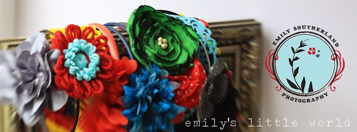 From Emily's Little Word Blogspot, I found this tutorial on how to make t-shirt flowers that can be used on hairpins or headbands. Thanks for such a great tutorial and idea!