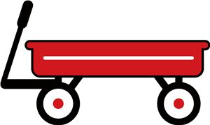 View Design 6445 Red Wagon Birthday Card Pinterest
