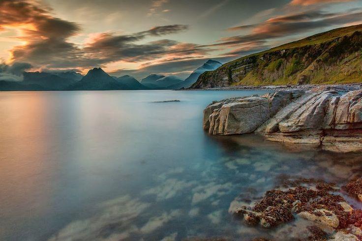 Sunset Dusk Last Light See Coast Water Sea Blue by FrankWinkler