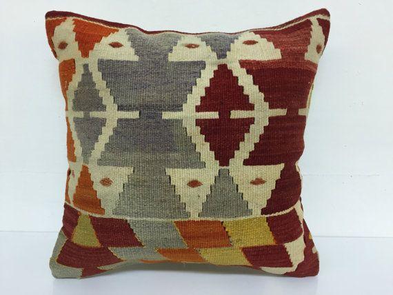 Kilim pillowdecorative pillowssofa pilloworiental by laviaart