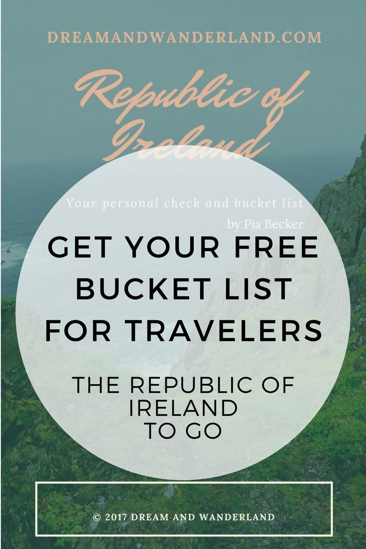 Do you love the Emerald Isle? Do you always want to visit Ireland? Then this is right for you. A short guid, bucket list and memory keeper for your trip of  your life. An overview of the best sites all over the counties of the Republic of Ireland. And the best... It´s for FREE