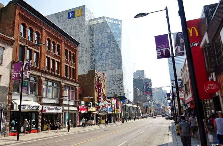 Yonge St. north of Gould St.