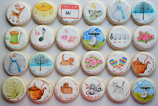 Sound of Music Painted Cookies - The most amazing painted cookies I've seen on the web.  Just fantastic!