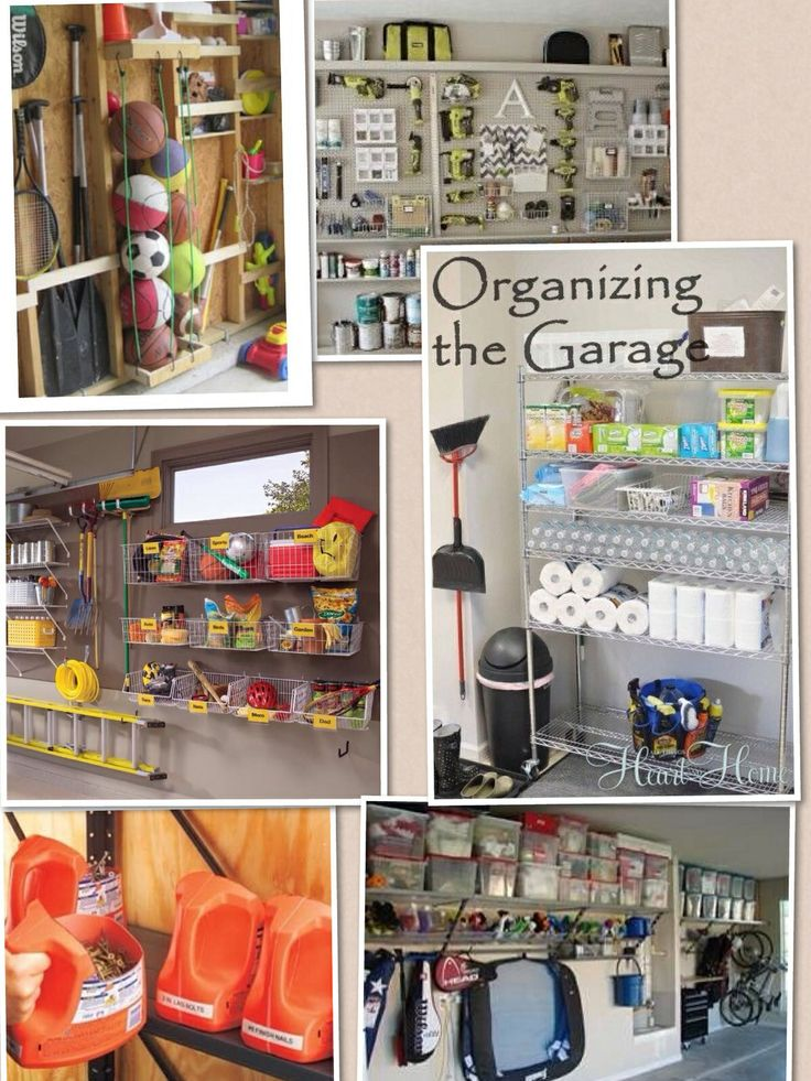 Organize your garage ideas!