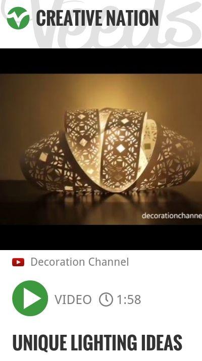 Unique Lighting Ideas   http://veeds.com/i/Qe-GxIXZc-JzGPY2/creativenation/