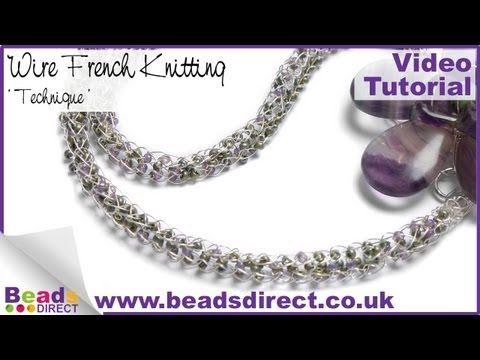Jewellery Making- French Knitting Technique | Beads Direct - http://www.knittingstory.eu/jewellery-making-french-knitting-technique-beads-direct/