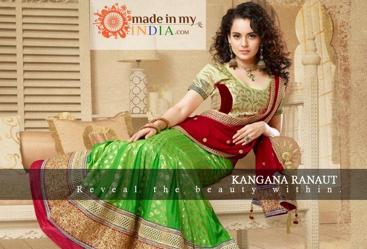Kangana Ranaut in designer Lehenga.  Explore more designer lehenga @ www.madeinmyindia.com Made with love in #India  Share it, if You Like it.  #madeinmyindia #made #with #love #india #ethnic #Wear #fashion #clothing #unique #handcrafted #Suits #kurtis #lehenga #sarees #Bridal #partywear #embroided #wedding #manymore #designclothing #fashionclothing #trends #bollywood #KanganaRanaut