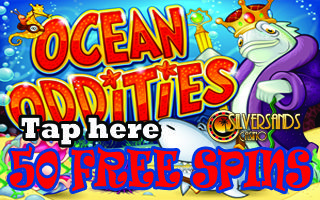 "SILVERSANDS MOBILE CASINO PROMOTION : 50 FREE SPINS  #SilverSandsCasino is happy to announce a new #promotion for the mobile version of the software. This promotion is only valid for the ZAR Casino players on the ""Go Mobile client""  Player can get  50 Free Spins on the slot Ocean Oddities using their mobile device! PLAY NOW  http://www.playcasino.co.za/goto/silver-sands-casino.html  https://playcasino.co.za/blog/silver-sands-mobile-casino-promotion/"