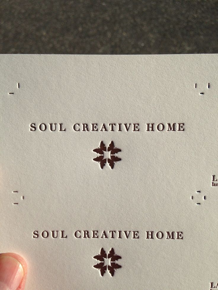 64 best business cards images on pinterest name cards business soul creative home letterpress logo business cardslipsense reheart Images