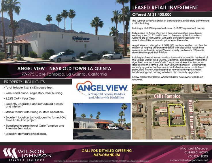 LEASED INVESTMENT FOR SALE! Angel View in La Quinta is now