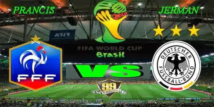 Berita Judi Online - Prediksi Hasil Akhir Pertandingan Fase Perempat Final World Cup 04/07/2014 France vs Germany Laga akan digelar pada Jum...