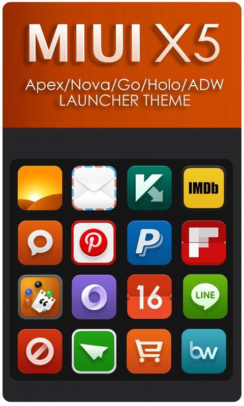 MIUI X5 HD Apex/Nova/ADW Theme - screenshot