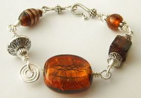 How to make a wire wrapped bracelet: