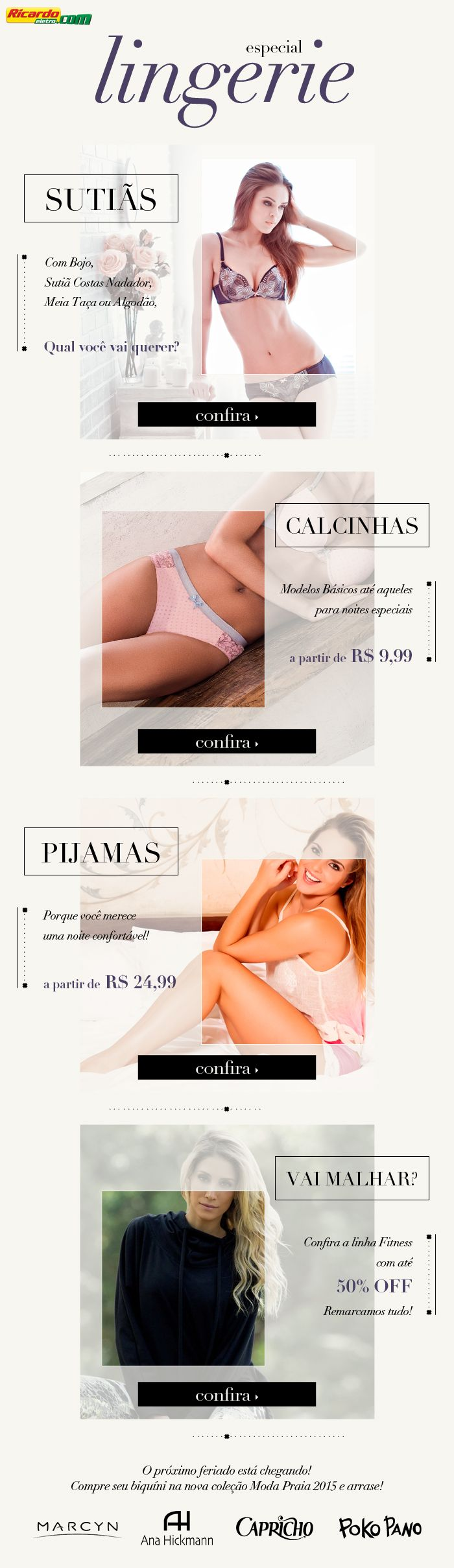 E-mail Marketing Lingerie #email #webdesign #design #lingerie #woman #sexy #best #comercial #photoshop #minimalistdesign